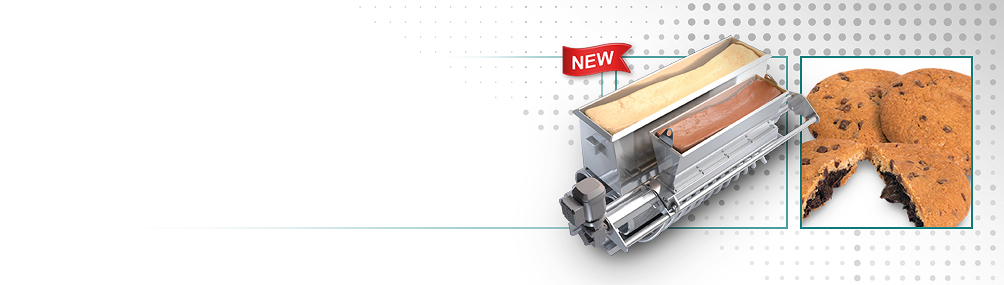 <h3><b>NEW Encapsulated Cookie Capability</b><p>Filled cookies can be produced on a standard wirecut machine using an optional encapsulation module and iris cutter.
