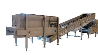 Live Bottom Bin & Elevating Conveyor