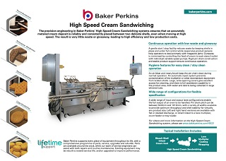 eSheet: High Speed Cream Sandwiching